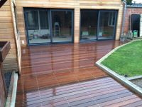 extention bardage red cedar et terrasse sur plots. Black Bedroom Furniture Sets. Home Design Ideas